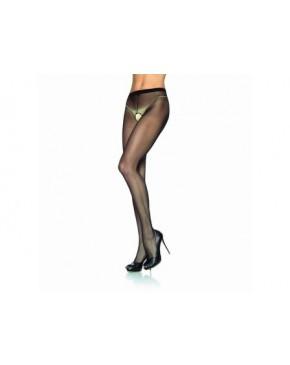 Leg Avenue Sheer Nylon Crotchless Tight