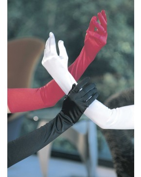 Shirley Of Hollywood Long Satin Spandex Gloves