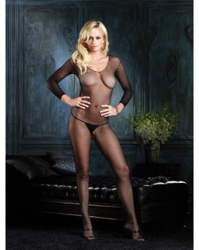 Leg Avenue Fishnet Long Sleeve Bodystocking 8360