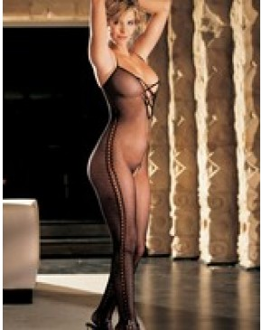 Shirley Of Hollywood Mock Bead Bodystocking