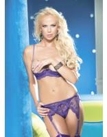 Shirley Of Hollywood Scalloped Embroidery Shelf Bra 331 Purple