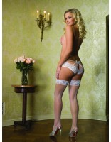 Leg Avenue White Lace Bridal Tanga Panty 71017