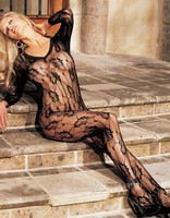 Shirley Of Hollywood Floral Lace Bodystocking