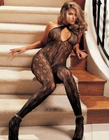 Swirl Lace Shirley Of Hollywood Halter Bodystocking
