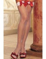 Shirley of Hollywood Thigh High Stockings with Cross