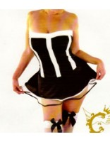 Crazy Chick Sexy Black French Maid Dress