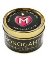 Monogamy Large Massage Candle 65g Strawberries & Champagne