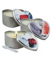 Earthly Body 3 in 1 Lickable Massage Heart Candle